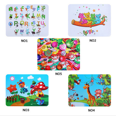 Silicone Children Mat Cartoon Children's Cup Mattress Food Grade Mat Waterproof Heat Resistant Plate Pad Insulation
