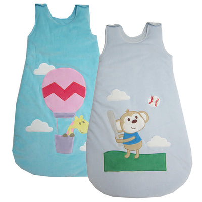 Mother Nest Newborn Baby Sleeping Bag Fleece Infant Baby Clothes Cartoon Animal Sleeveless Romper Sleep Sacks Cute Sleeping Bag