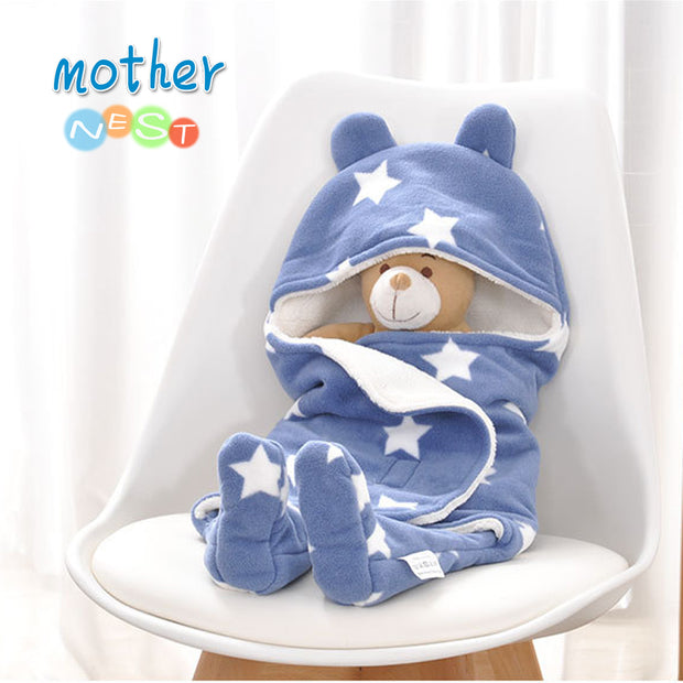 Mother Nest 2018 Winter Baby Sleeping Bags baby Sleepsacks Stars Printed Baby Sleepsack Envelope Wrap Stroller for Newborn