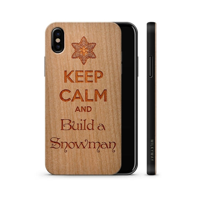 Wood  - Keep Calm and Build a Snowman