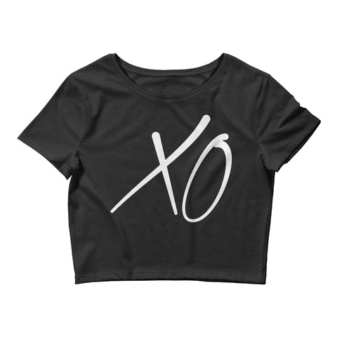 Princetime XO Black Women's Crop Tee