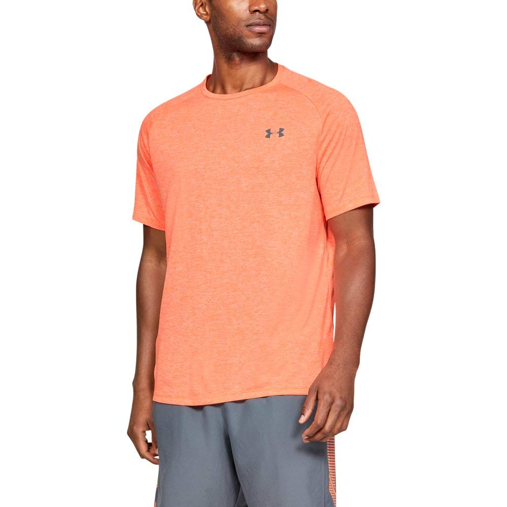 Under Armour Men's Tech 2.0 Short Sleeve T-Shirt, Orange Glitch (882)/Pitch Gray, 4X-Large - Best of Clothing