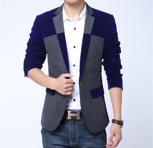 Color Block Blazer - Best of Clothing