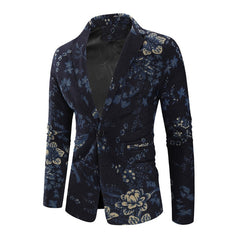 Floral Men Blazer - Best of Clothing