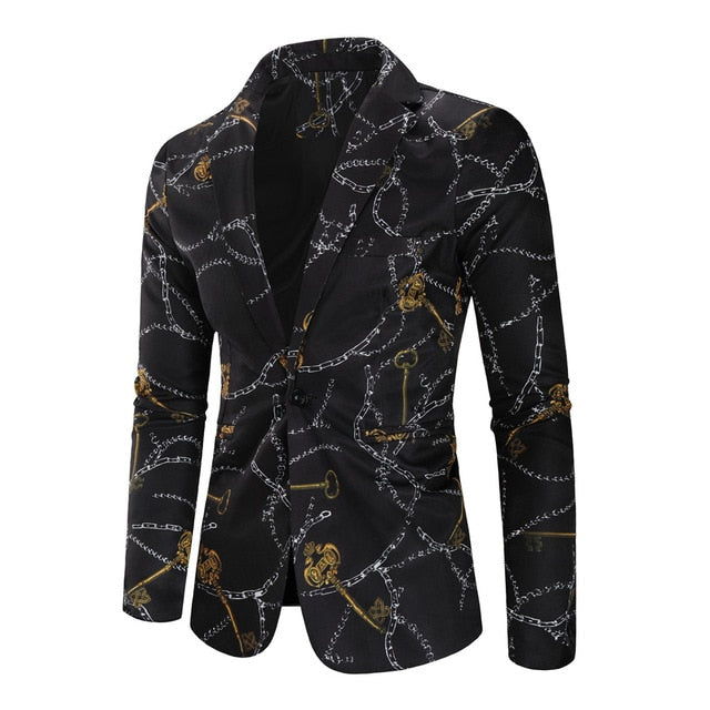 Marble-print Blazer - Best of Clothing