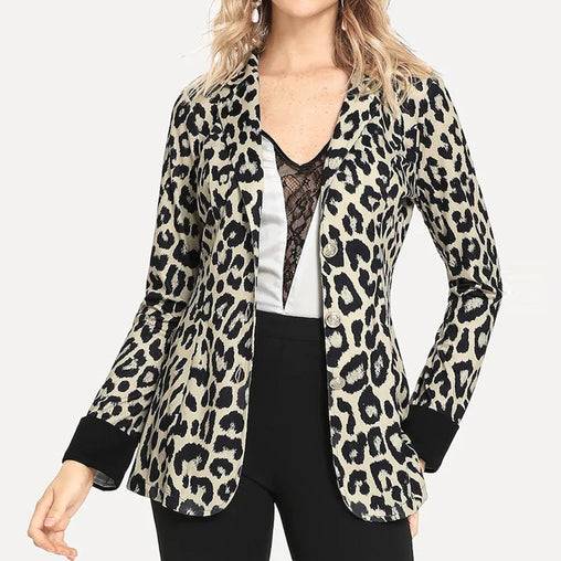 Leopard Blazer - Best of Clothing
