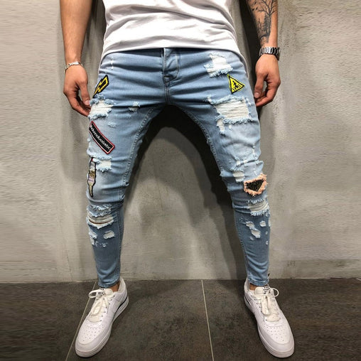 Distressed Denim Trouser - Best of Clothing