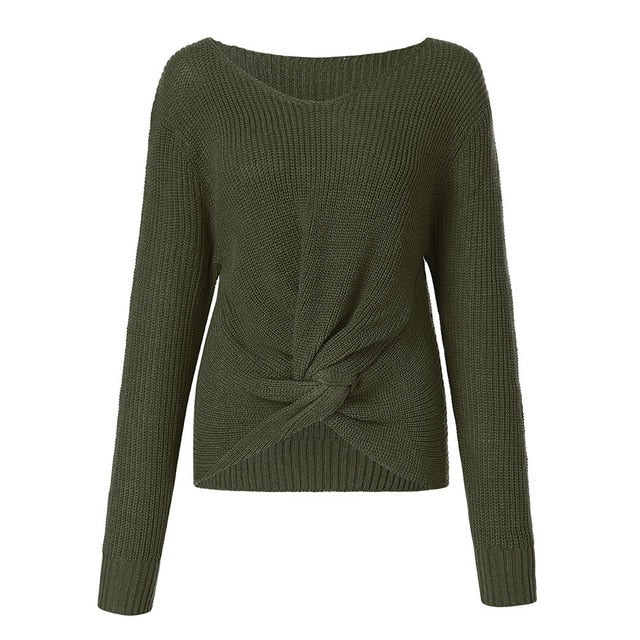 Twisted Sweater - bestofclothingstore
