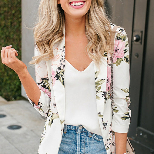 Floral Blazer - Best of Clothing