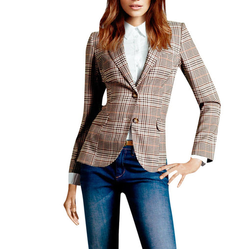 Plaid Blazer - bestofclothingstore