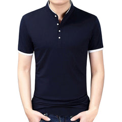 Standing Collar T-Shirt - Best of Clothing