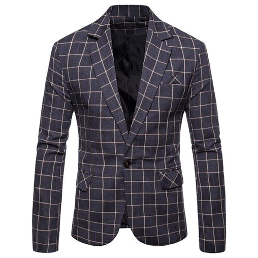 Plaid Blazer - Best of Clothing