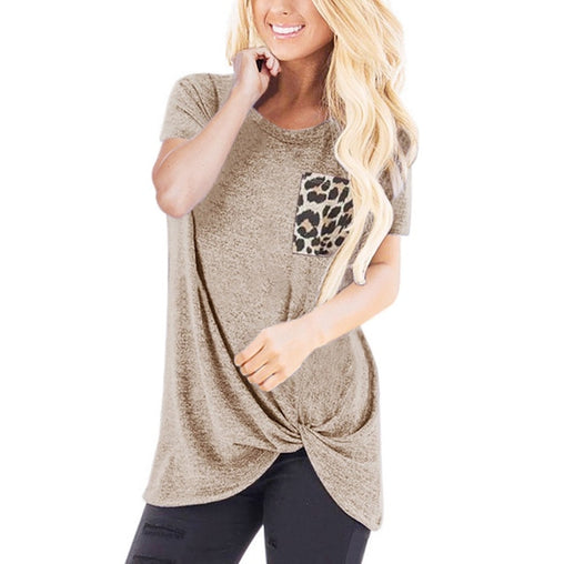 Leopard Pocket T-Shirt - Best of Clothing