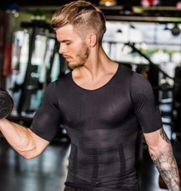 Men's Compression T-Shirt Compression Body Building Shirt for Men Summer Slim Dry Quick Under Shirt - bestofclothingstore