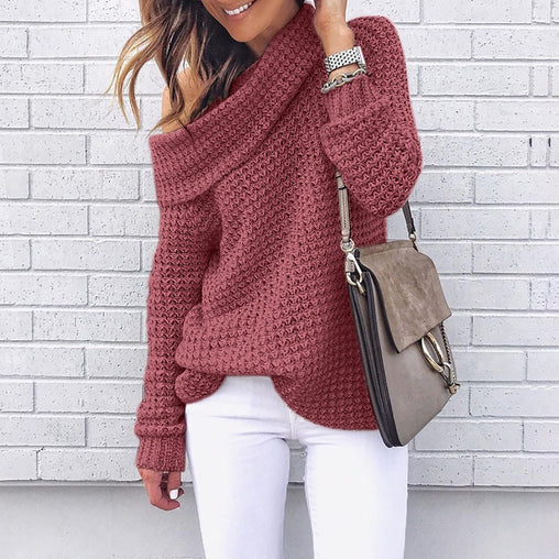 One Shoulder Sweater - bestofclothingstore
