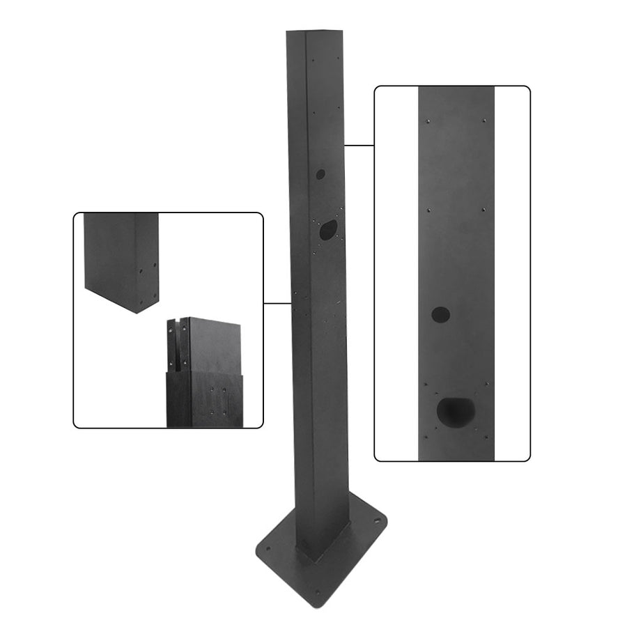 BESEN Wall-Mounted EV Charging Station/Wallbox on Pillar Stand with with Charge Cable