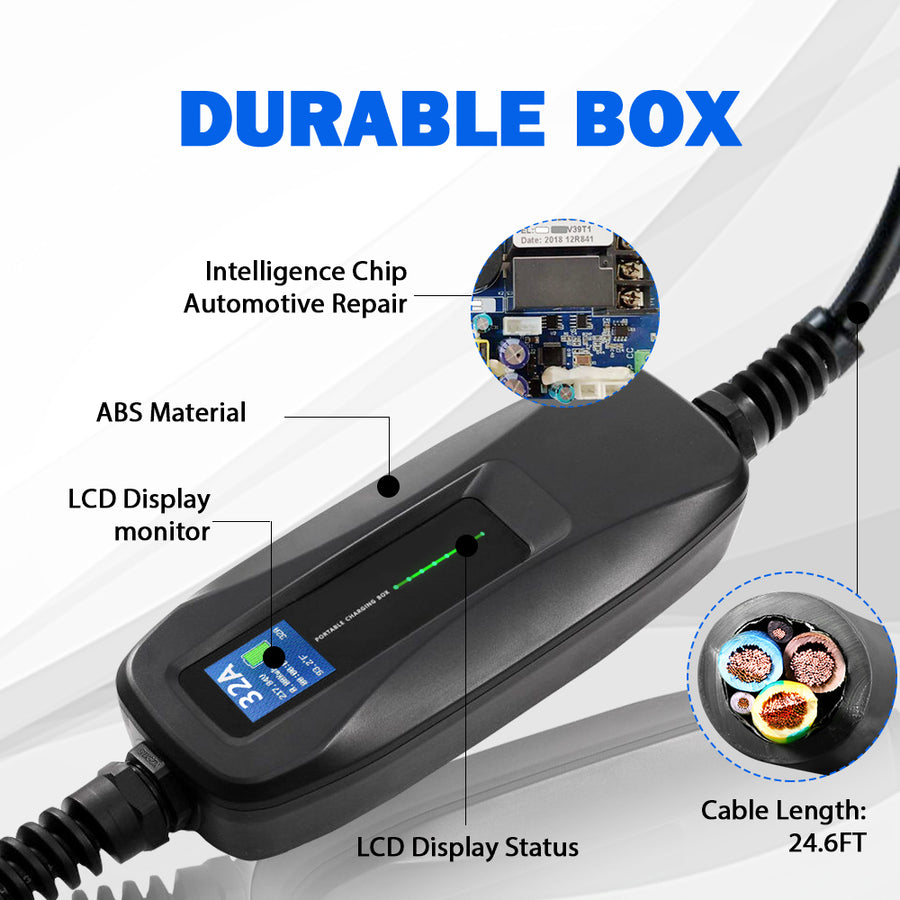 16A/32A Type1 SAE J1772 Cable Portable EV Charging Box for America