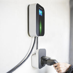 EMOVETECH Wall-Mounted EV Charging Station/Wallbox on Pillar Stand with Type 2 Outlet