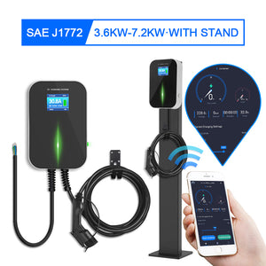 Charging Unit Phone Remote Wall-Mounted EV Home Charger Station with Cable