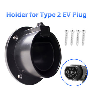 Besen EV Charger Holder Holster Dock for Type 2 EVSE IEC 62196-2 Connector Electric Vehicle Charger Plug