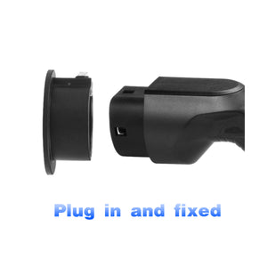EMOVETECH EV Charger Holder Holster Dock for Type 2 EVSE IEC 62196-2 Connector Electric Vehicle Charger Plug