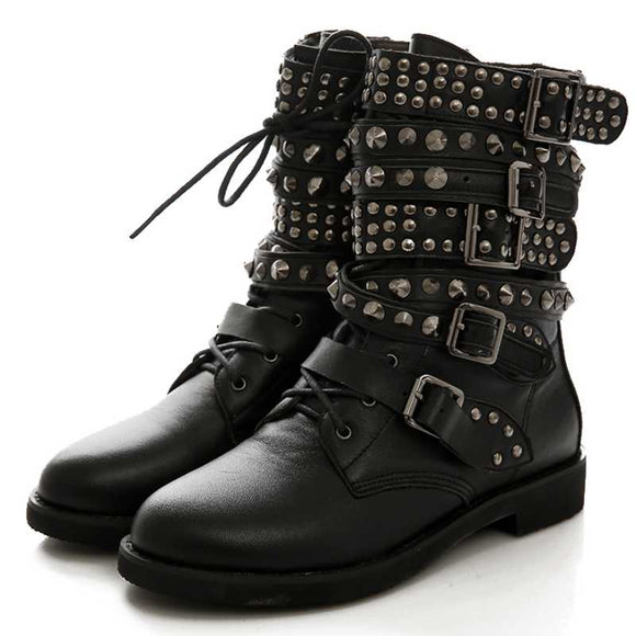 Crazy Studded Boots - Gothic Fix
