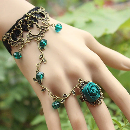 Retro Lace Flower Bracelet - Gothic Fix