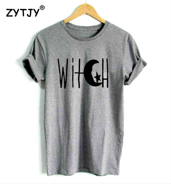 Witch Crescent Moon Shirt by ZYTJY - Gothic Fix
