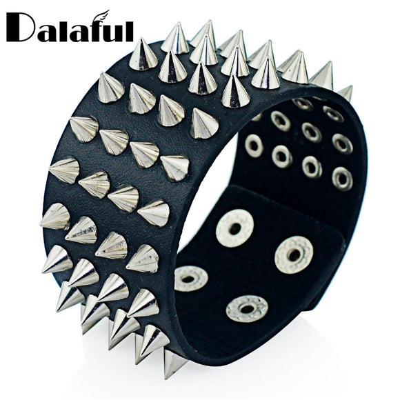 Four Row Spikes Bracelet - Gothic Fix