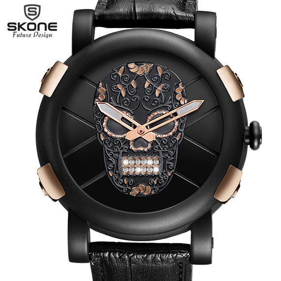 Pirate Skull Quartz Water Resistant Watch - Gothic Fix