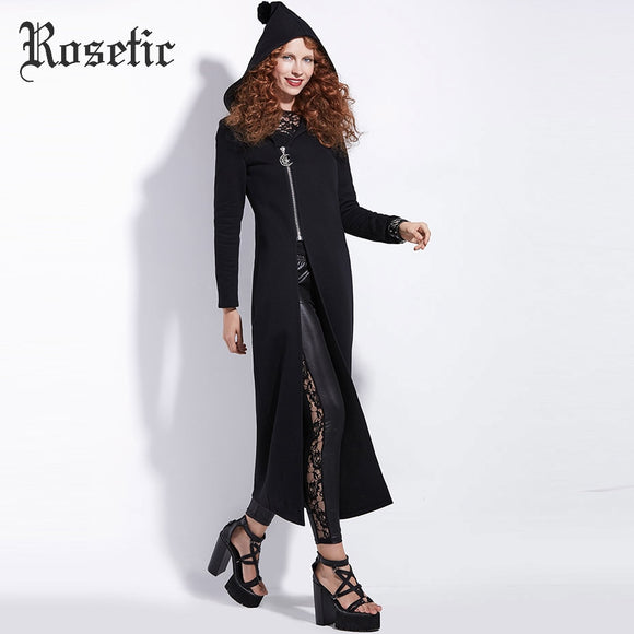 Black Hooded Dress Jacket - Gothic Fix