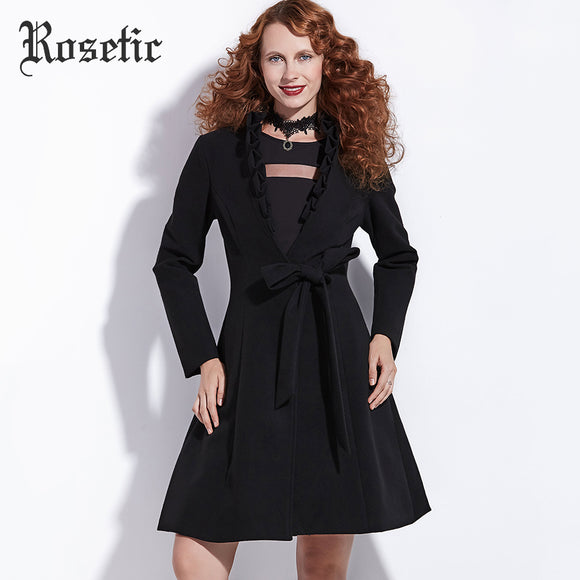 Wool Blend Dress - Gothic Fix