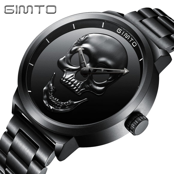 Mad Skull Stainless Steel Water Resistant Watch - Gothic Fix