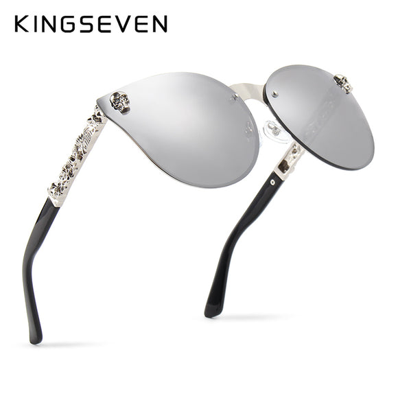 Kingseven Women's Gothic Mirror Eye wear Skull Frame - Gothic Fix