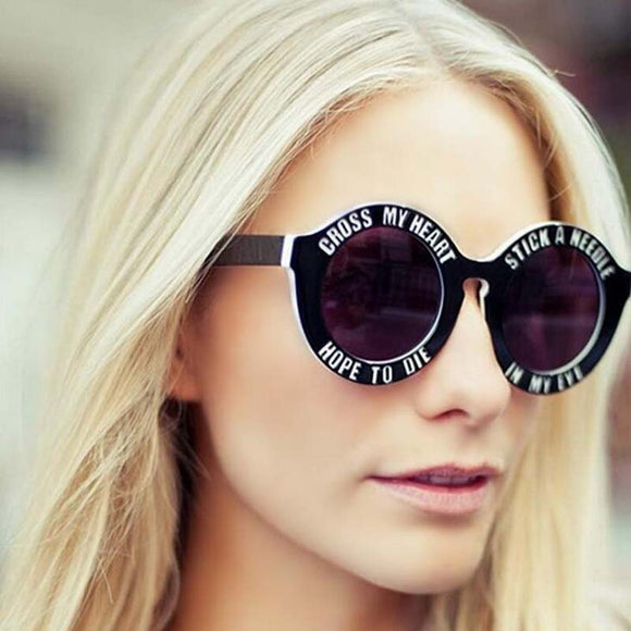 Oversized Round Sunglasses - Gothic Fix