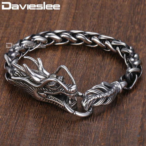 Dragon Head Stainless Bracelet - Gothic Fix