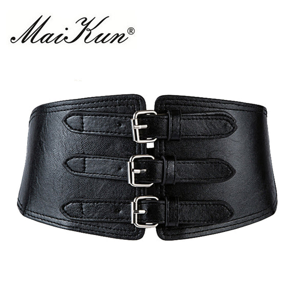 Wide Metal Pin Belt by Maikun - Gothic Fix