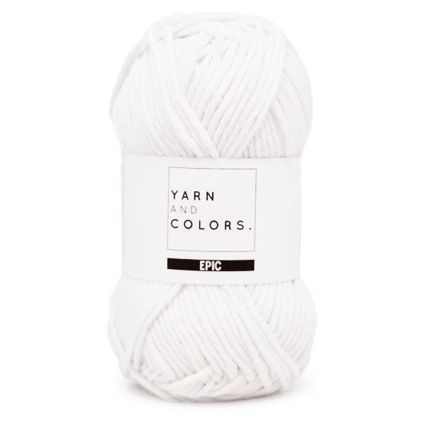 yarn and colors epic - 001 white - tinsimink