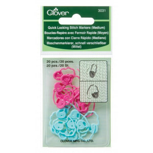 Clover Quick Locking Stitch Markers (Medium)
