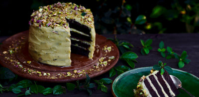 Pistachio Butter Cream Chocolate Cake