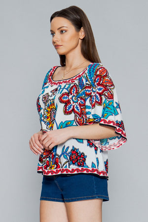 Oh So Tropic Off The Shoulder Floral Top