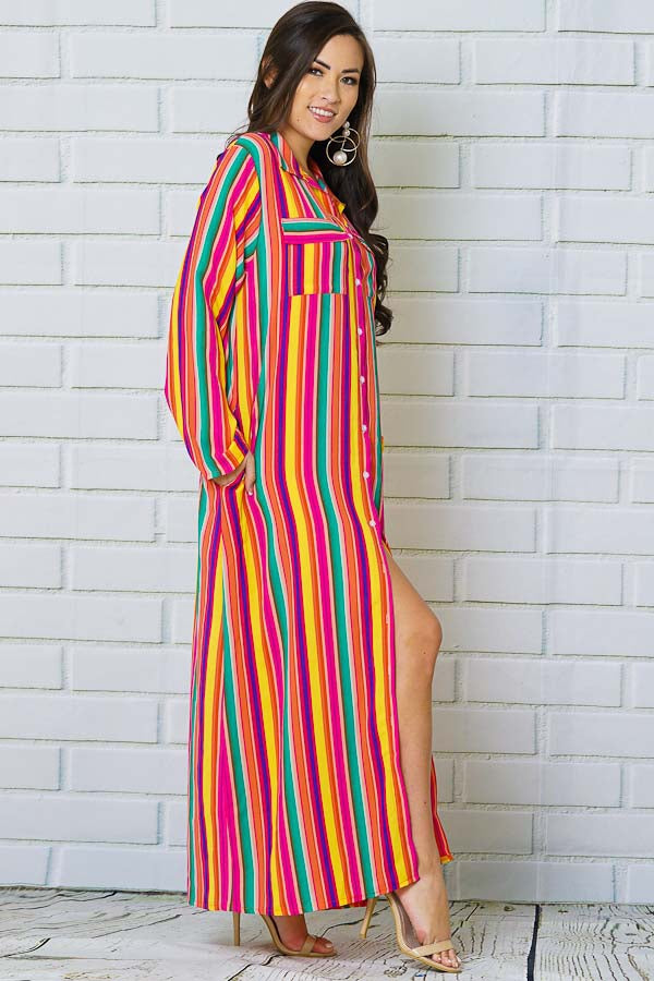 Rainbows and Dreams Stripe Maxi Dress
