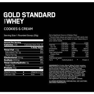 100% Whey Gold Standard 3,2kg Optimum Nutrition