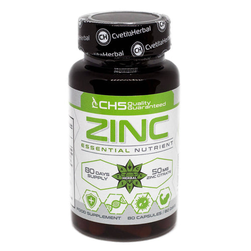 Zinc 80 gélules Cvetita Herbal