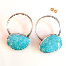 Load image into Gallery viewer, turquoise sphere earrings