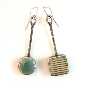 ceramic drop earrings