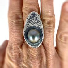 Load image into Gallery viewer, tahitian pearl seed pod ring