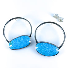 Load image into Gallery viewer, turquoise sphere earrings deux