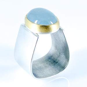 aquamarine pyramid ring