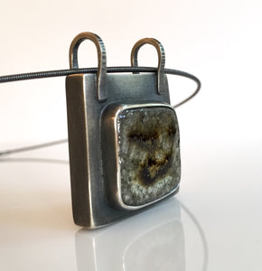 ceramic square box pendant
